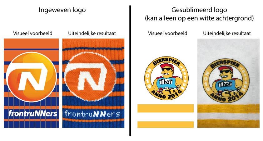 Subimatie logo of gebreid logo
